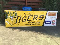Tiger Hockey Fence Sign