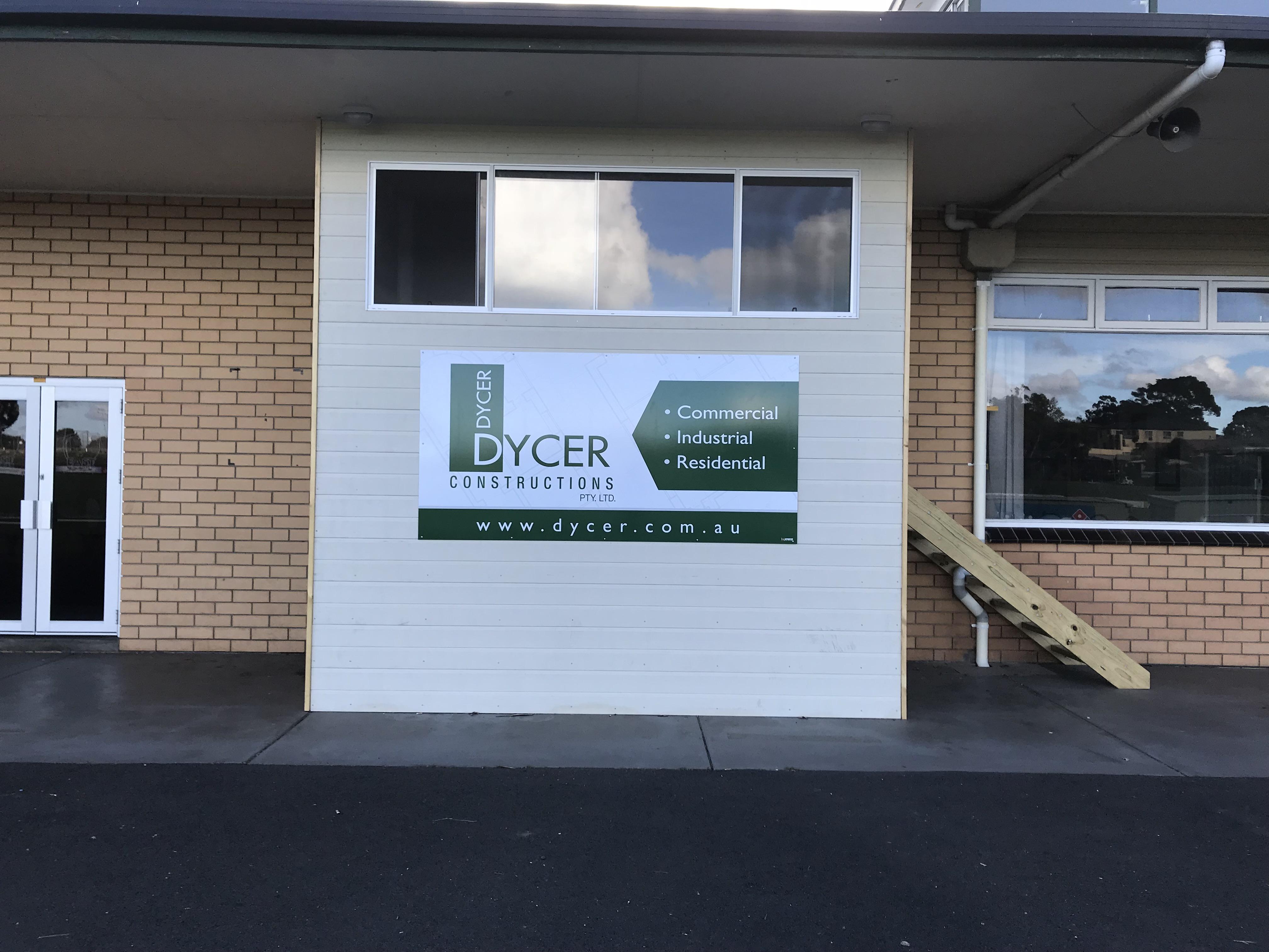 Dycer Constructions Sponsor Sign