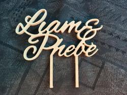 Liam & Phebe Cake Topper