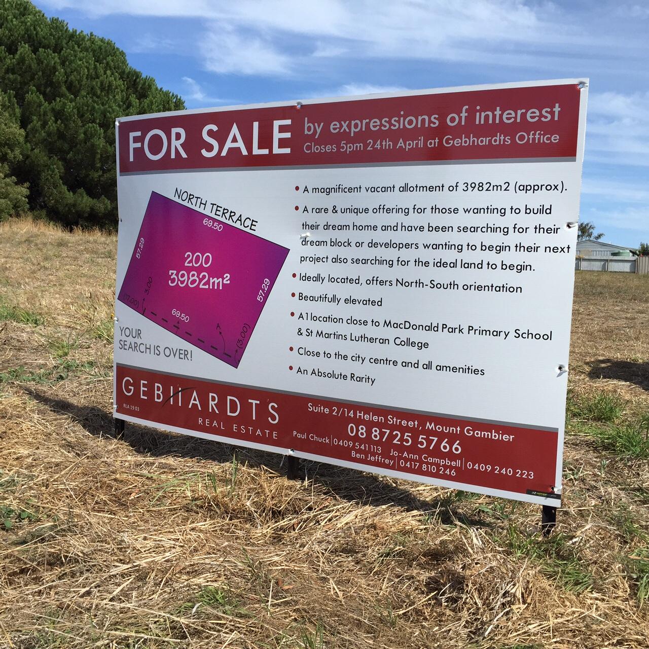 Gebhardts For Sale Sign