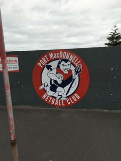 Port MacDonnell Netball Court Sign