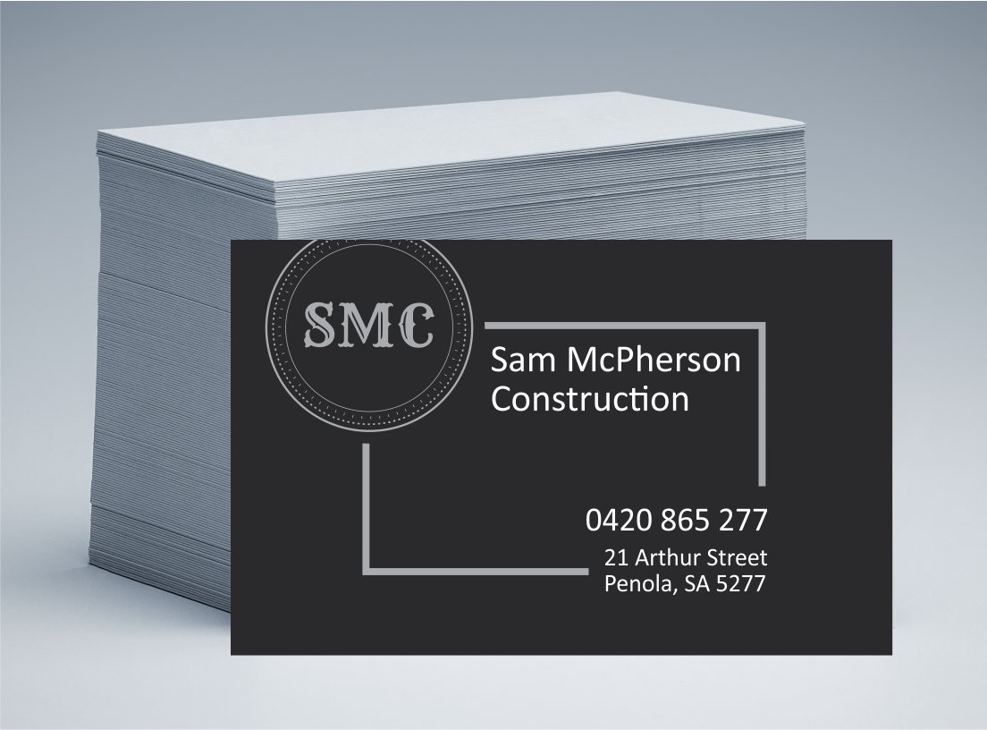 Sam McPherson Carpentry Business Cards