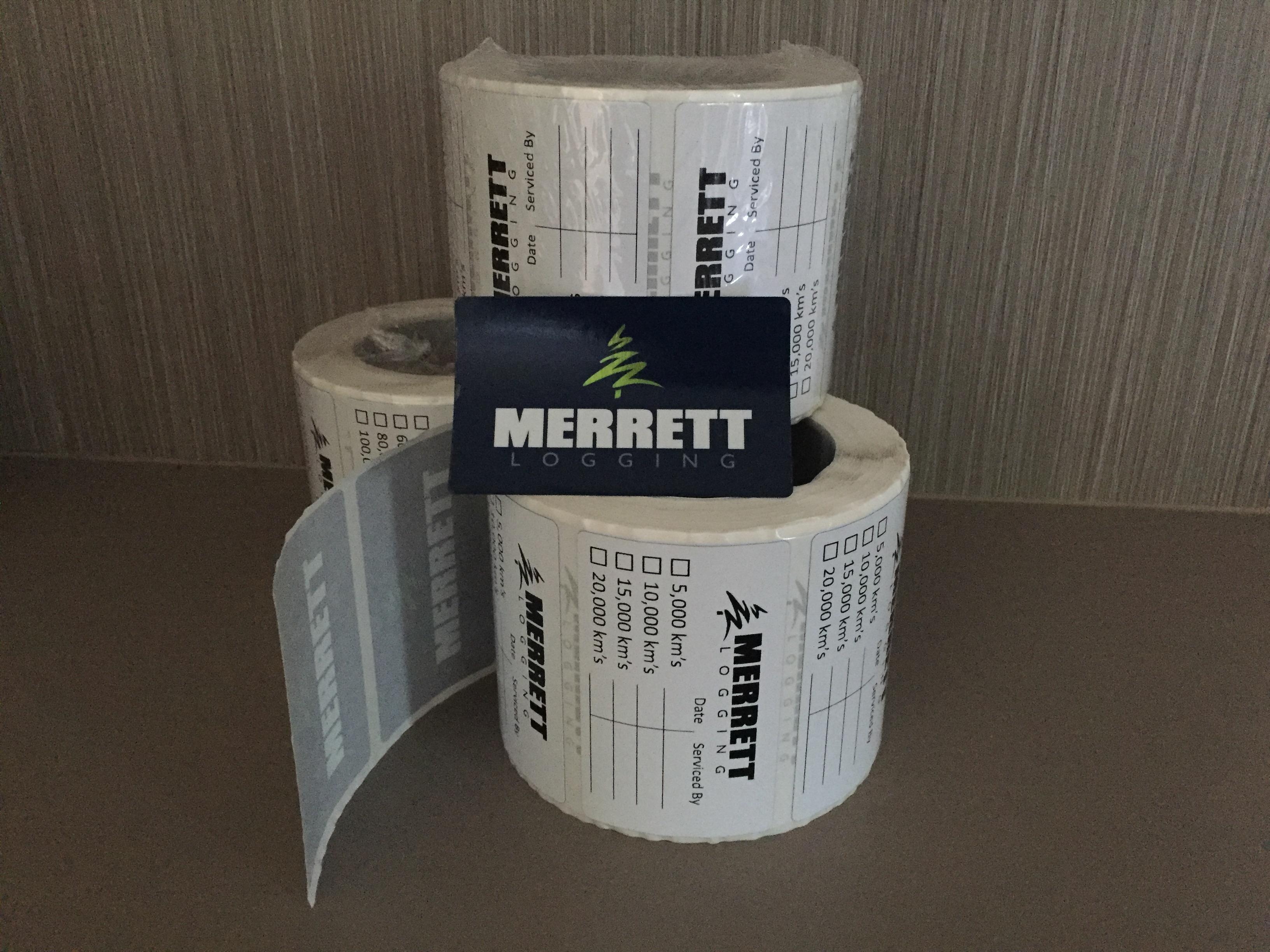 Merrett Logging Service Labels