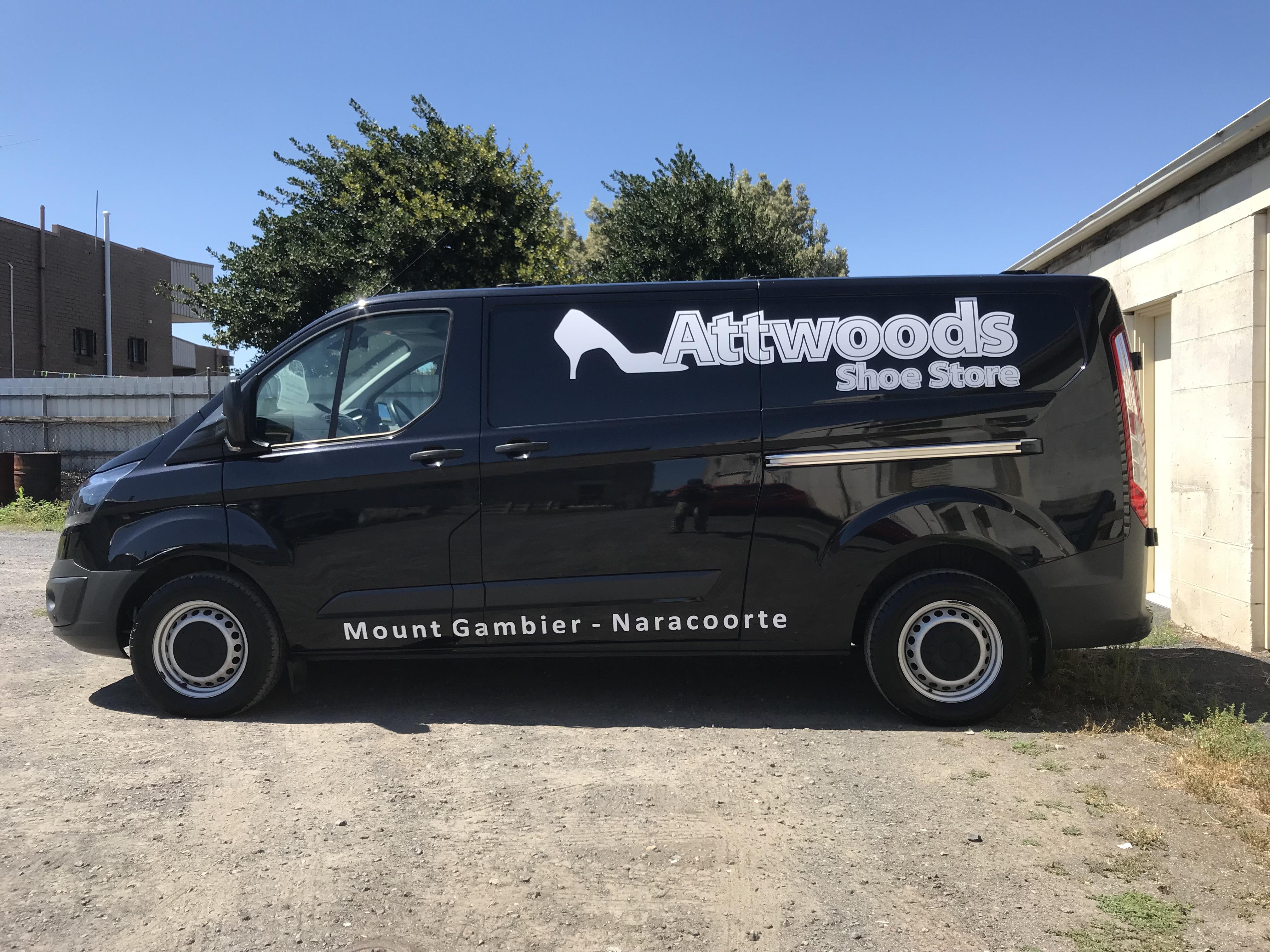 Attwood Shoes Van Signage