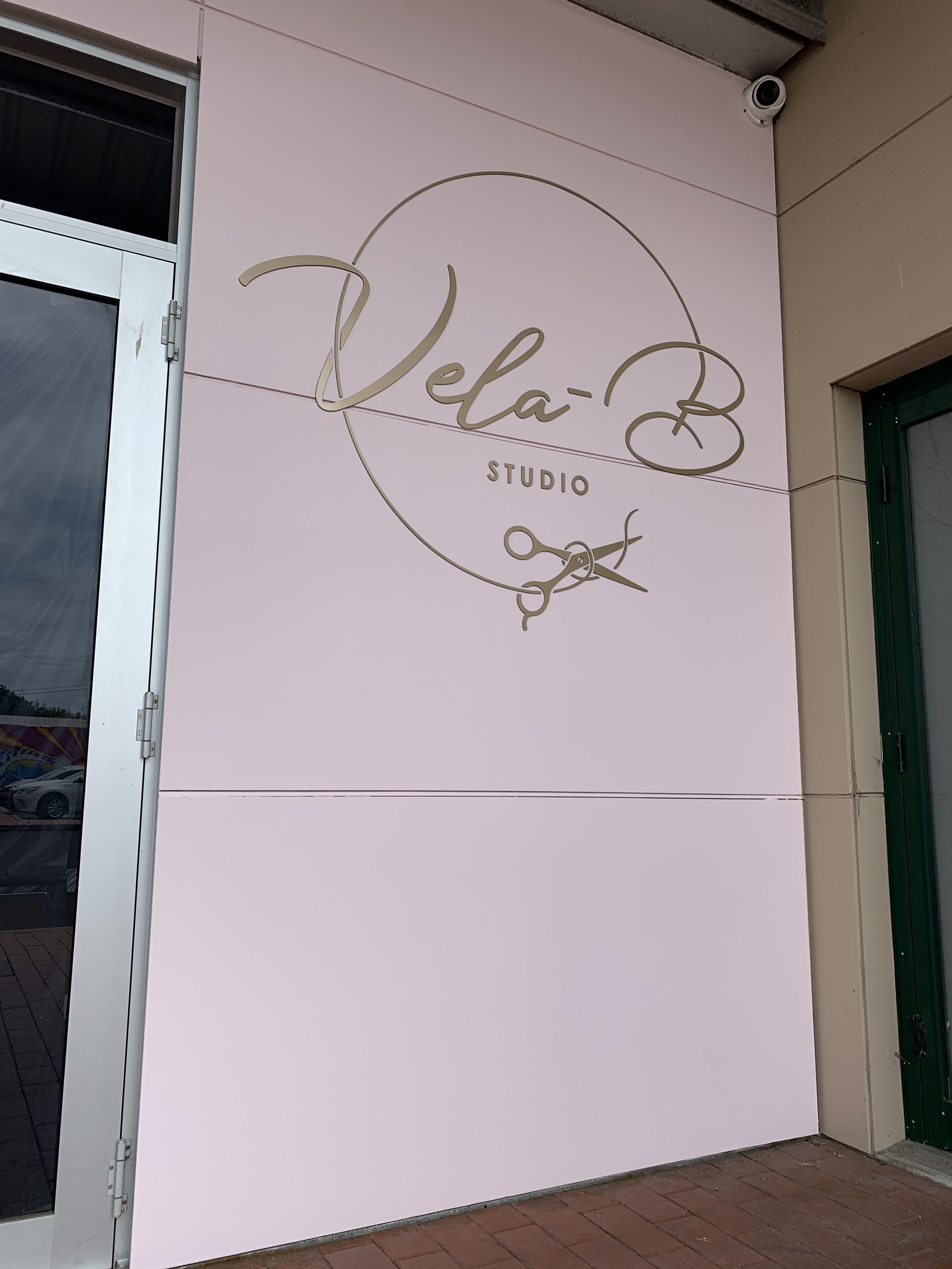 Vela B Hair Studio Signage