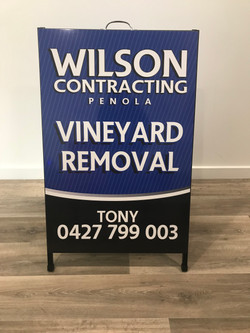 Wilson Contracting A-Frame