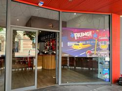 Fringe Window Signage