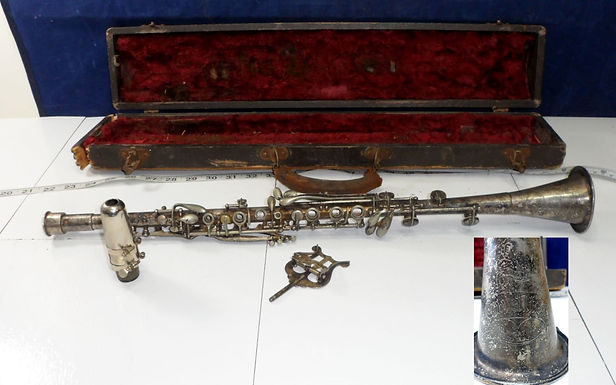 1920scavalier Silver Plated Metal Clarinet - Elkhart Usa