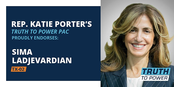 Congresswoman Katie Porter Endorses Sima Ladjevardian to Flip TX-02