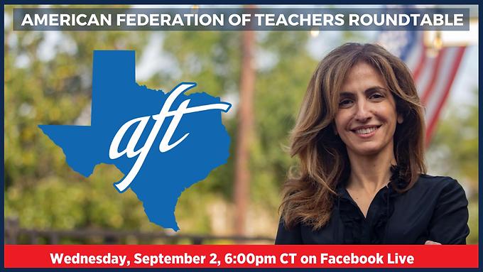 Sima Ladjevardian organizará un debate con la Federación Estadounidense de Maestros de Texas