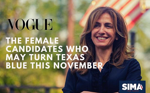 Sima Ladjevardian en Vogue: Las Candidatas que pueden convertir a Texas en azul este noviembre