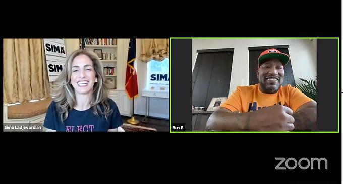 Sima Ladjevardian organiza una conversación virtual con Bun B, oficialmente respaldada por el legendario rapero de Houston