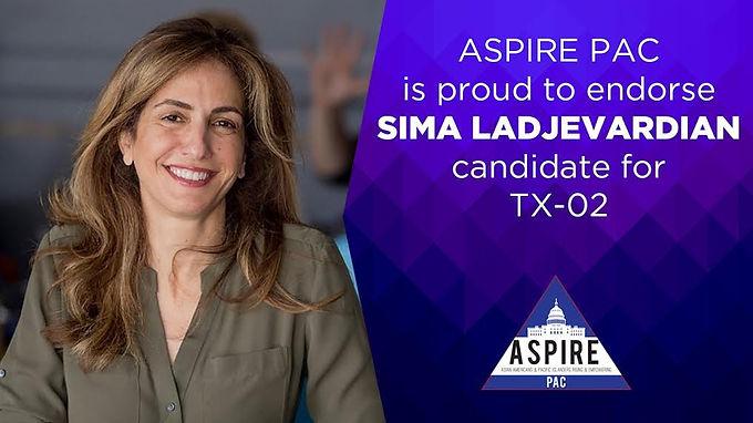 ASPIRE PAC Endorses Sima Ladjevardian to Flip TX-02