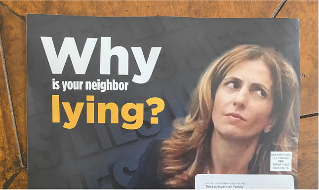 Nervioso Crenshaw ataca a Sima Ladjevardian con Anuncio Publicitario Negativo