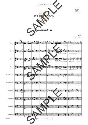 Birdcatchers Song - Mozart arr.Broadbent for 4 ob & 4 bsn