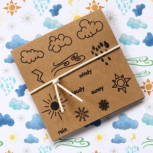 Weather stamp set
