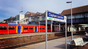 train, clapham junction, station, transport, travel, platform, london