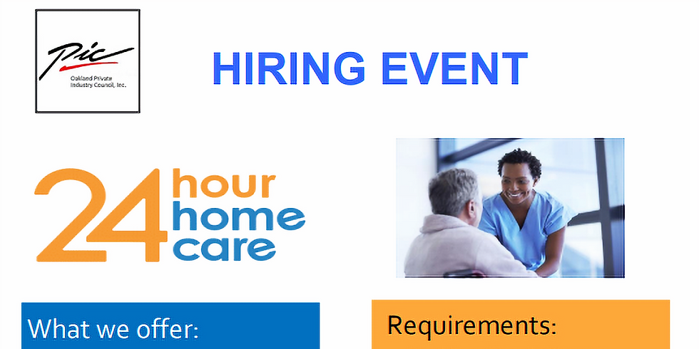 24 Hour Home Care Hiring Event