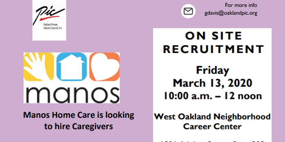 Manos Home Care OnSite Hiring Event