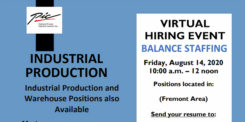 Virtual Hiring Event with Balance Staffing