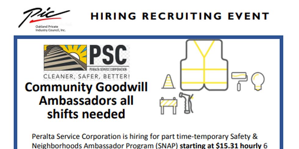 Peralta Service Corporation hiring event