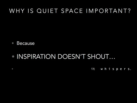 Why Is quiet space so important?