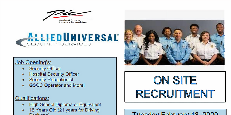 Allied Universal Security Services Hiring Event