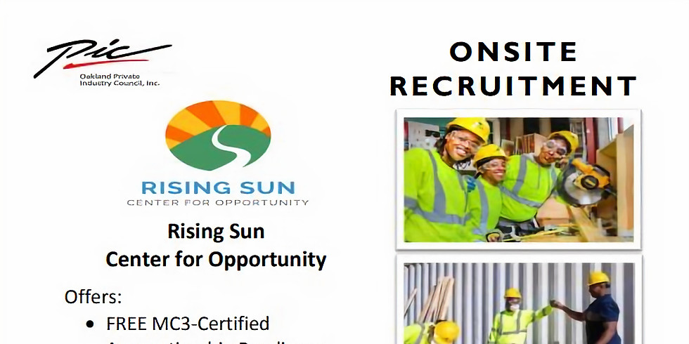Construction Workers - Rising Sun Center Hiring Event