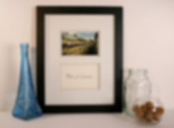Framed and Matted Photograph of Paris with Calligraphy Inscription