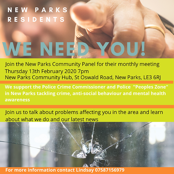 New Parks Community Panel - We Need You