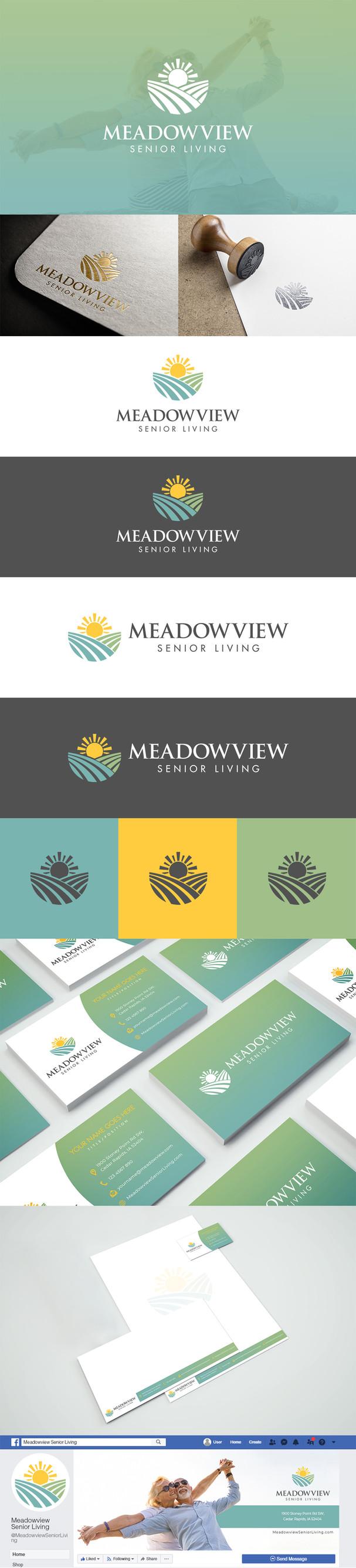 Meadowview Senior Living Logo Design & B