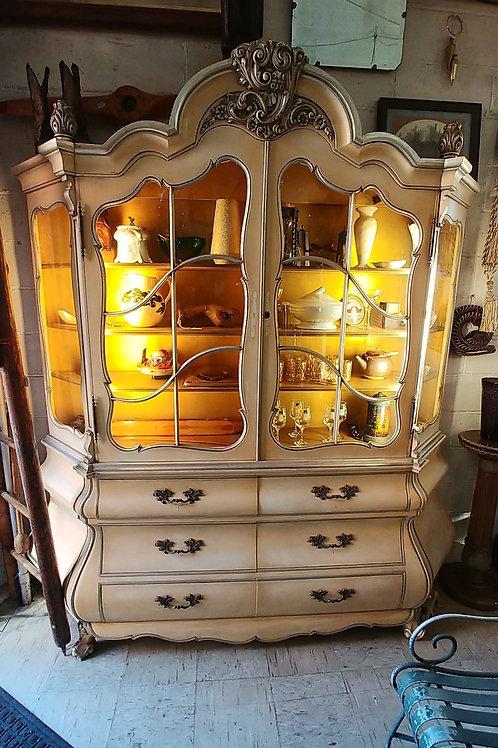Cream colored cabinet (empty)