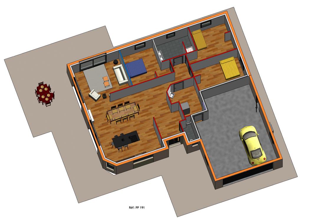 Projet Maison individuelle - Plain pied (3)