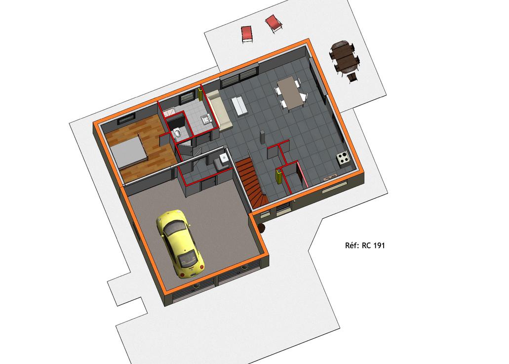 Projet Maison individuelle - Rez + Combles 1 (5)