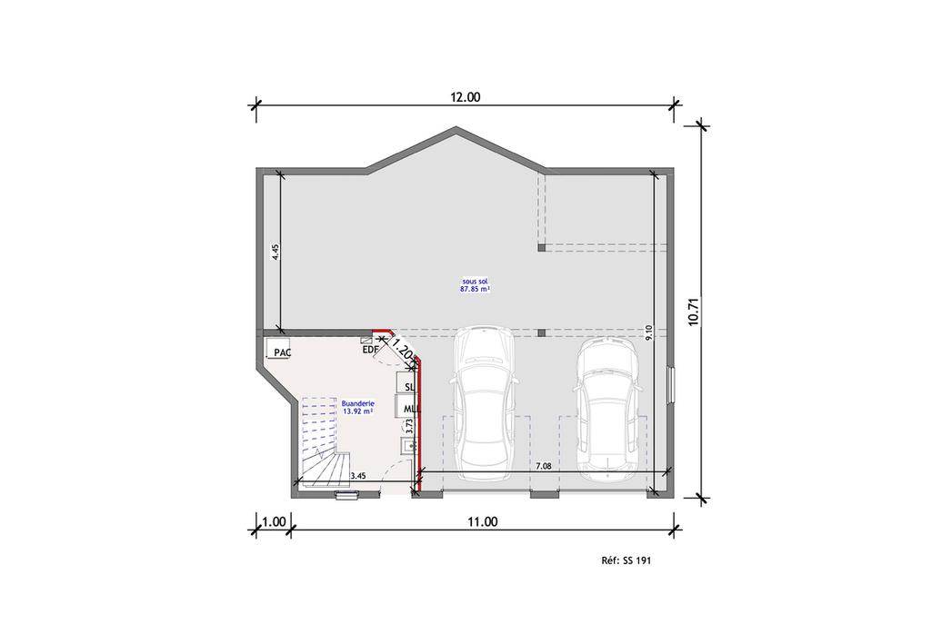 Projet Maison individuelle - Sous-sol 1 (6)