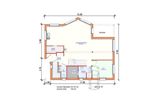 Projet Maison individuelle - Sous-sol 1