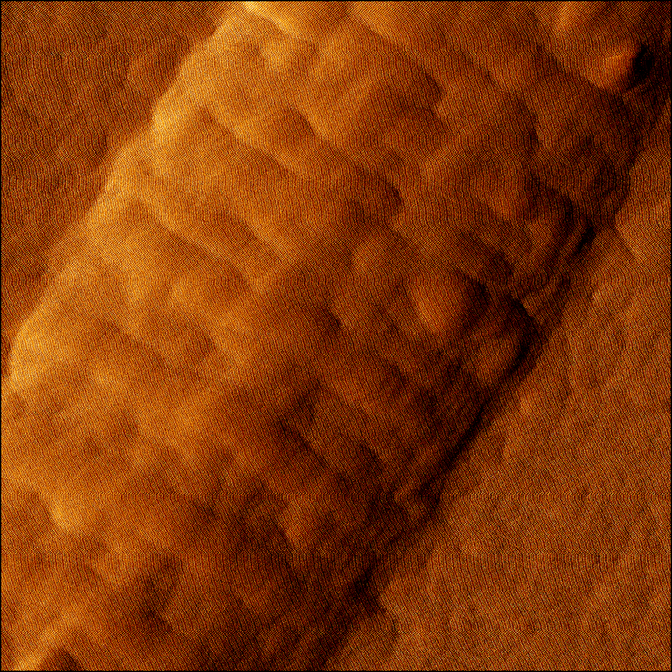 An AFM image of collagen type I in malign state