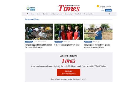 Digital news subscriptions paywall widget design