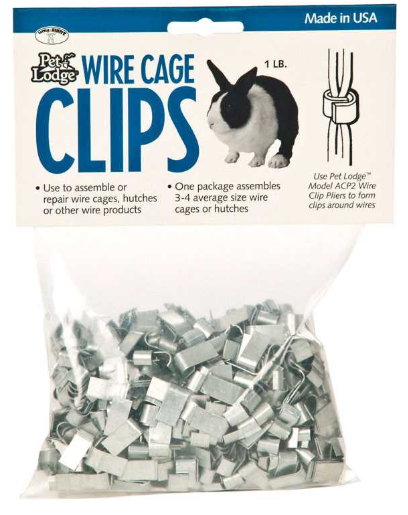 meat bunny cage clips