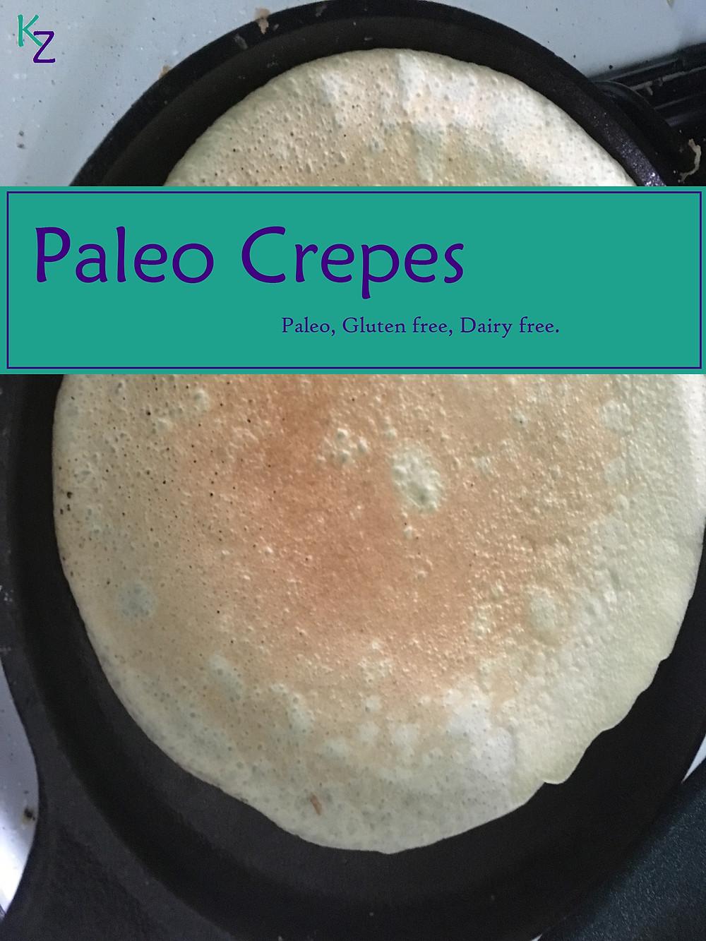 Paleo gluten free dairy free crepe recipe