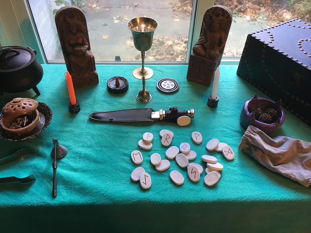 pagan altar setup