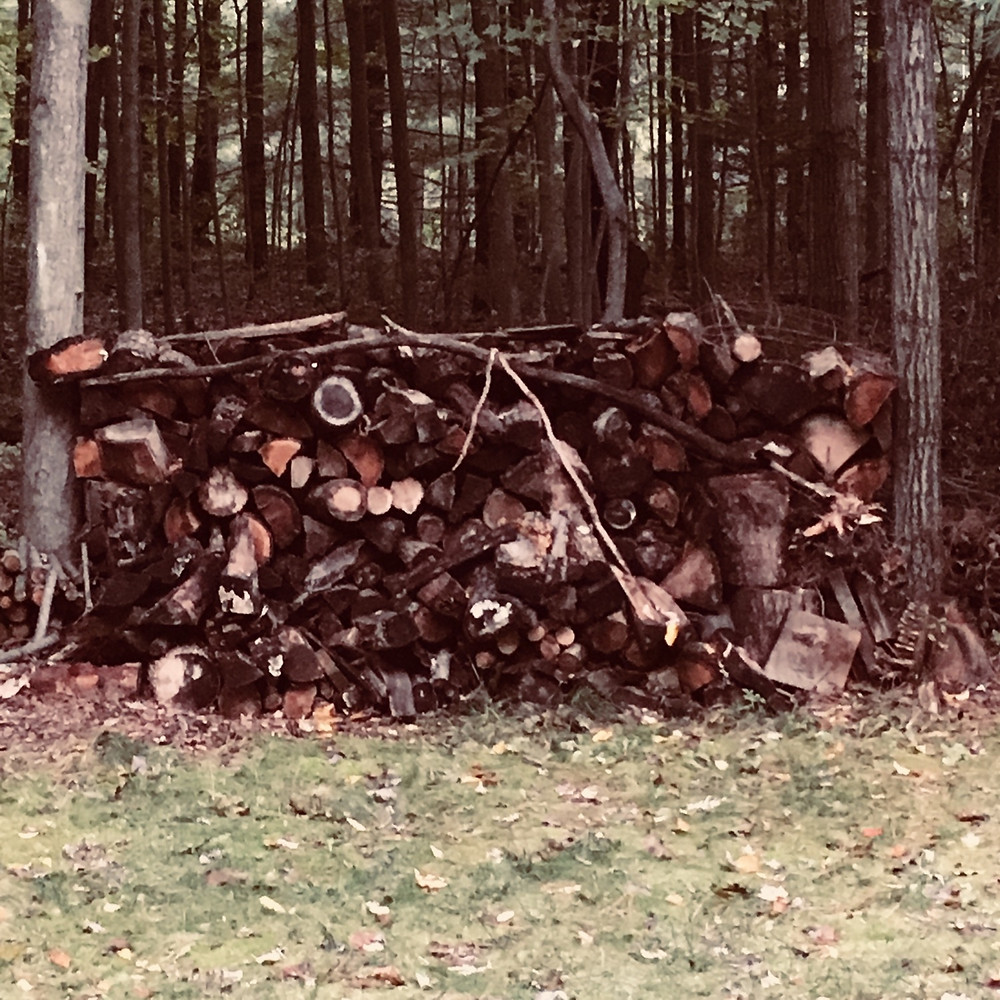 wood pile fire stove fireplace natural homegrown home harvested fuel
