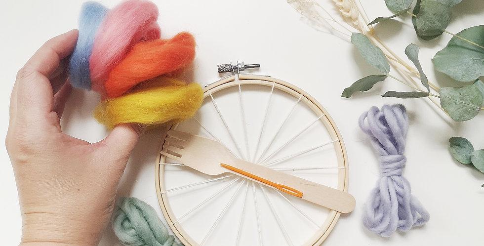 Mini Circular Weaving Kit _ Retro