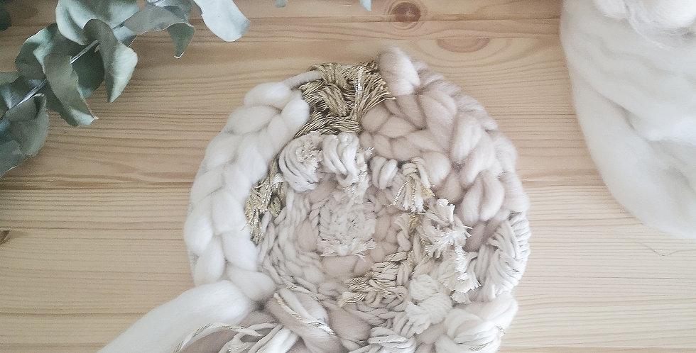 """9"""" circular woven Wall hanging"""