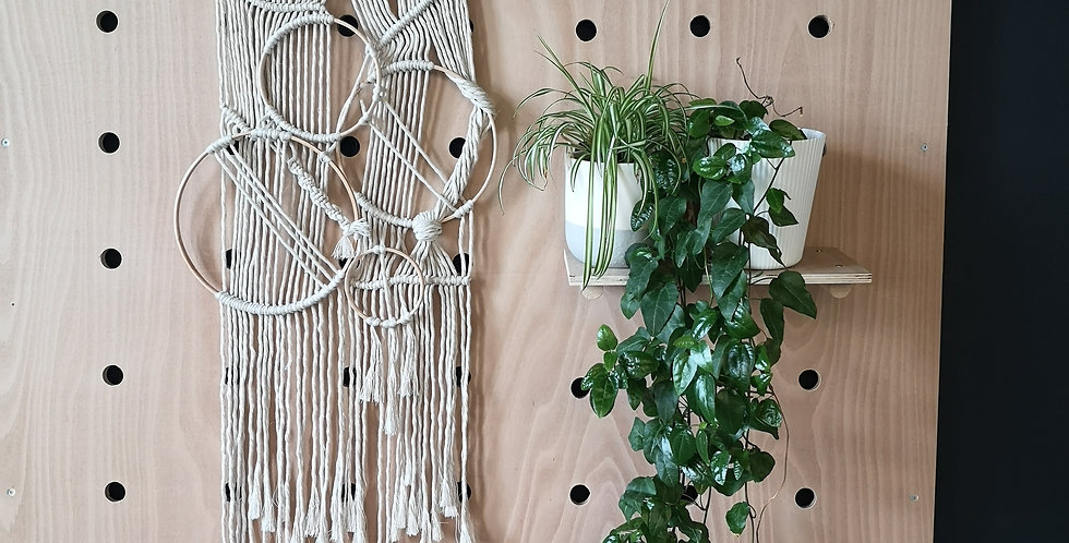 Cotton + Wood macrame Wall hanging