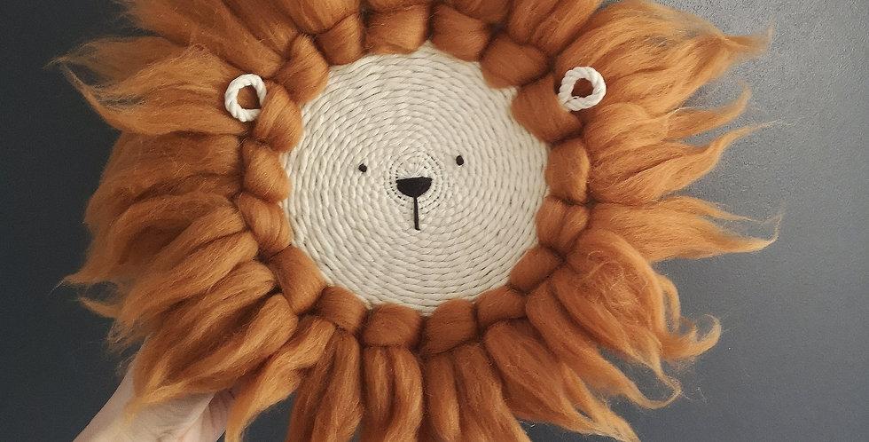 Lockie the lion // Circular Weaving Kit