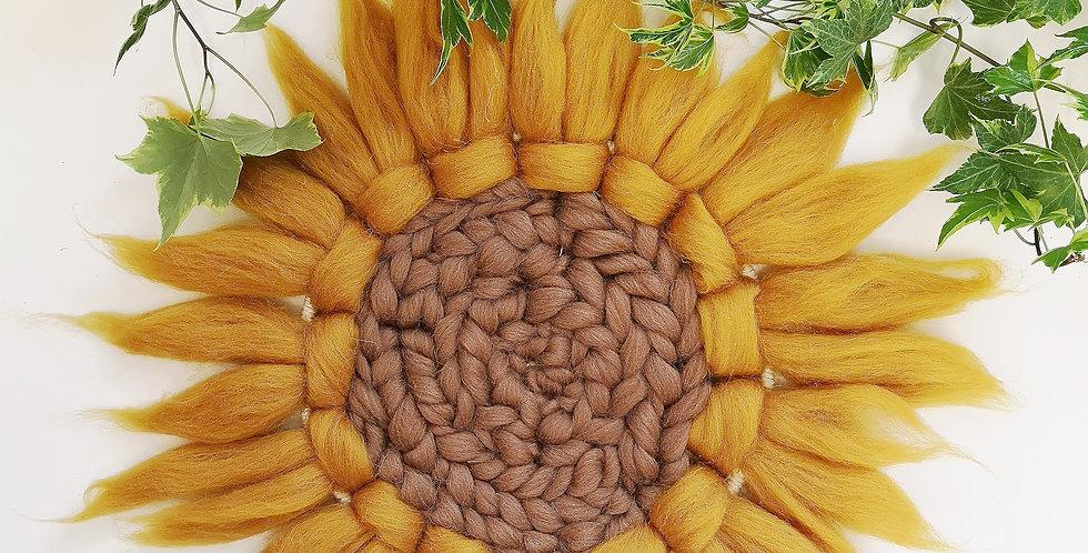 Sunflower (brown center)// Circular Weaving Kit