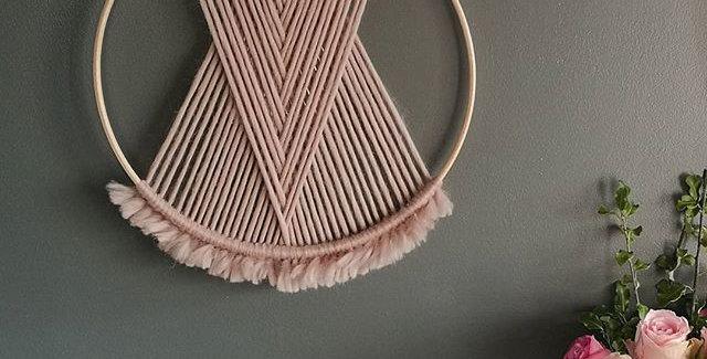 """DUSKY PINK 12"""" Merino Wool hoop"""