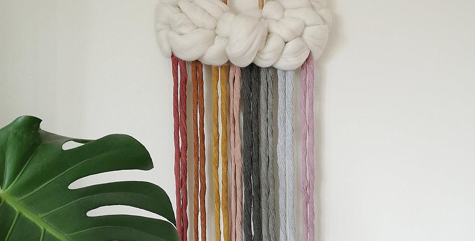 Colourful Rattan Rainbow cloud hanging