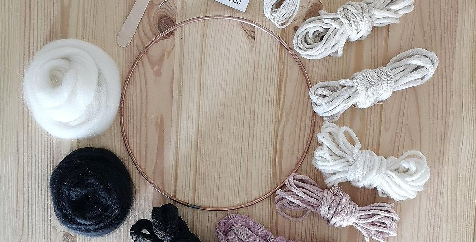Circular Weaving Kit _Pink Noir